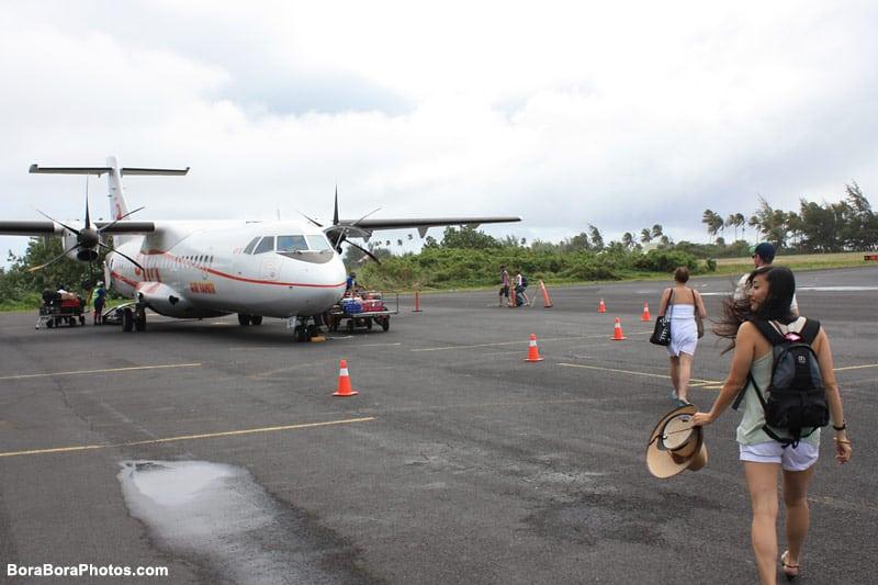 Air Tahiti Nui Bora Bora Plane | boraboraphotos.com