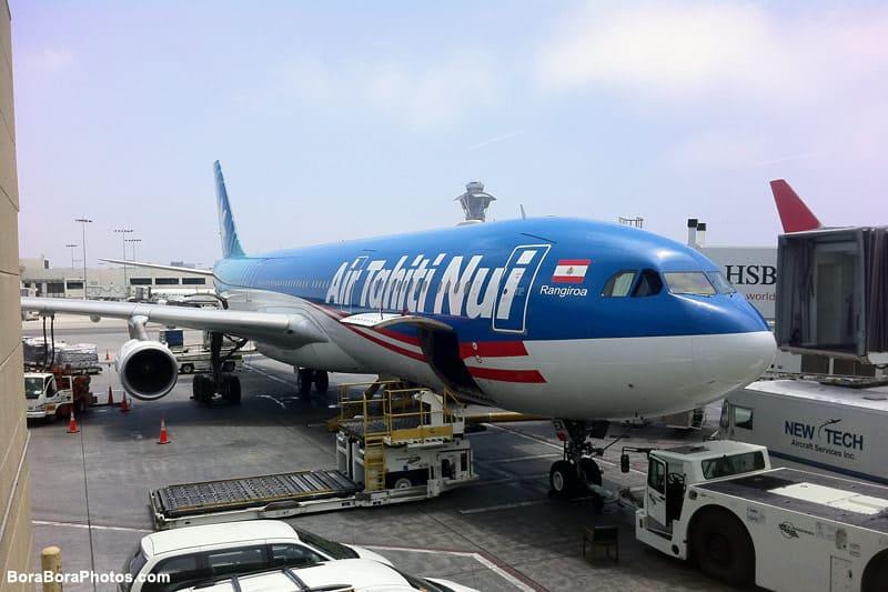 Air Tahiti Nui Bora Bora Flight | boraboraphotos.com