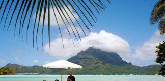 Eating Lunch in Bora Bora