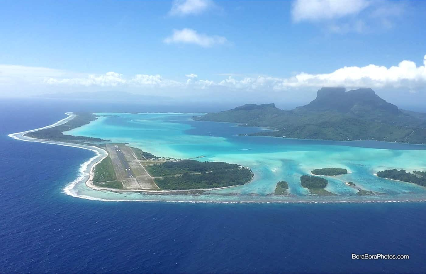 Bora Bora Airport (BOB) - One of French Polynesia first official airports which was constructed during World War II, and now serves as a gateway to tourists staying in overwater bungalows.