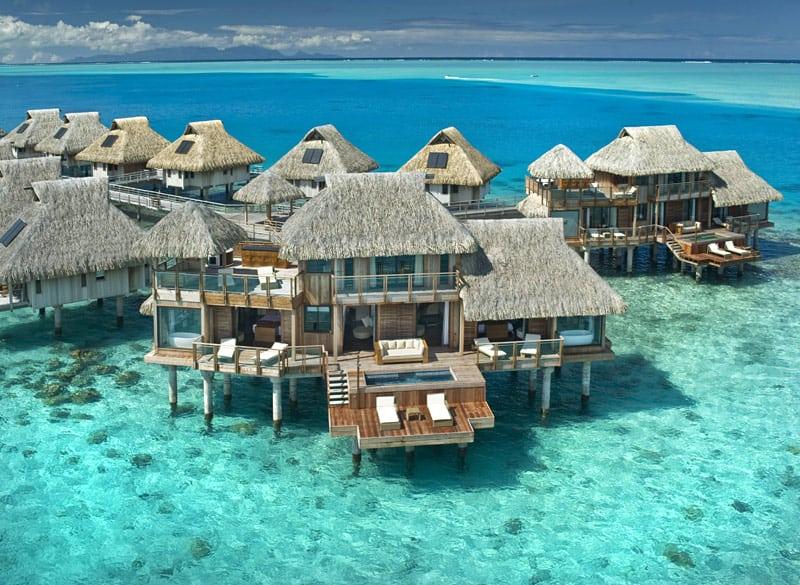 Hilton Bora Bora Nui Resort presidential suite bungalow | boraboraphotos.com