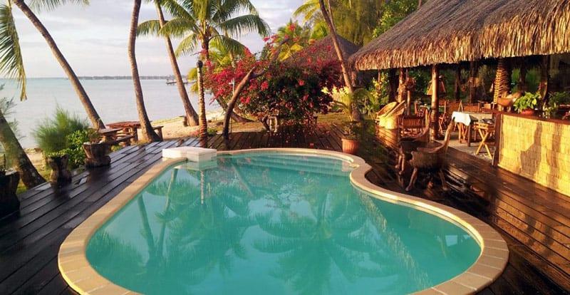 Bora Bora Eden Beach Hotel pool | BoraBoraPhotos.com