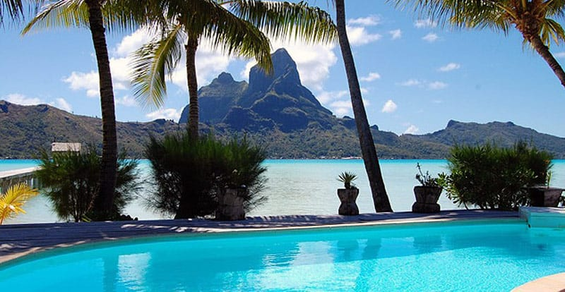 Bora Bora Eden Beach Hotel view of Mt. Otemanu | BoraBoraPhotos.com