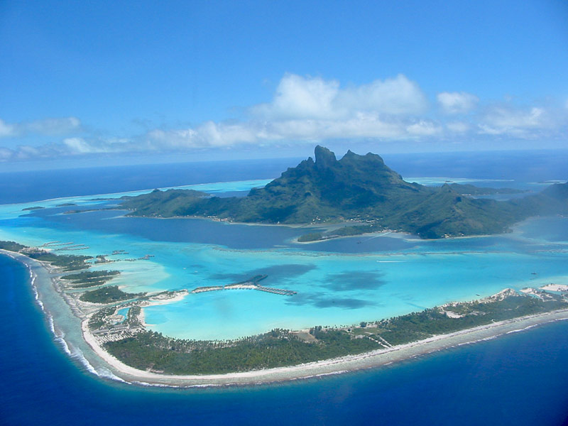 Mount Otemanu Bora Bora aerial view | boraboraphotos.com