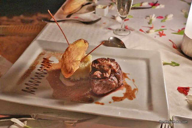 romantic dinner rossini beef | boraboraphotos.com