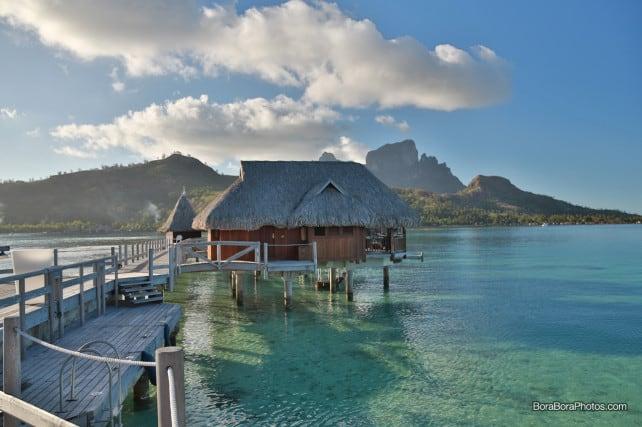Sofitel Private Island over water bungalow with lagoon view  | boraboraphotos.com