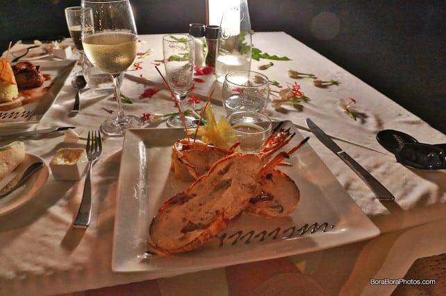 sofitel romantic dinner lobster plate | boraboraphotos.com