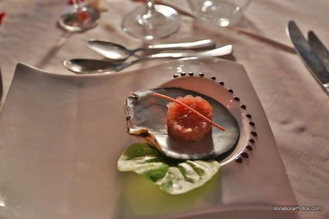 tuna tartare appetizer | boraboraphotos.com