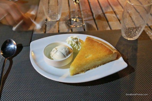 Bora Bora Yacht Club coconut cake | boraboraphotos.com