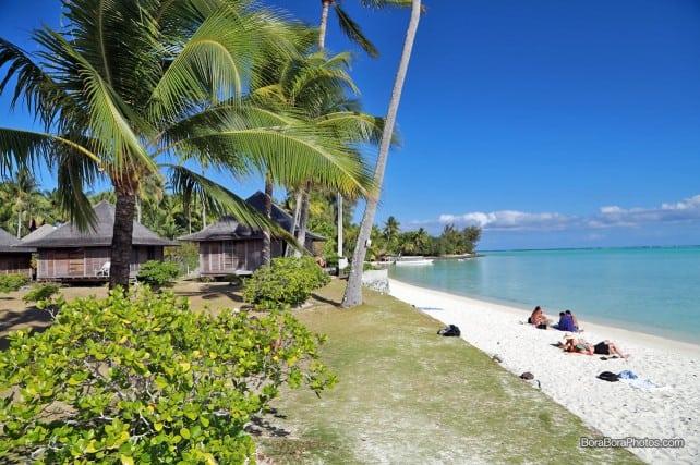 Hotel Matira location right on the lagoon | BoraBoraPhotos.com