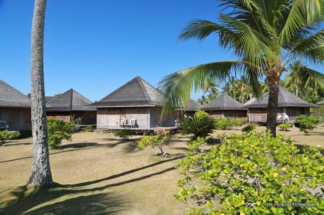 Typical Hotel Matira bungalows on the beach | BoraBoraPhotos.com
