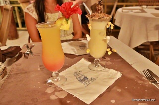 tropical island drinks served at La Bounty | boraboraphotos.com