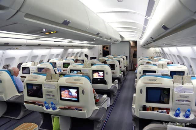 air tahiti nui airlines business class cabin | boraboraphotos.com