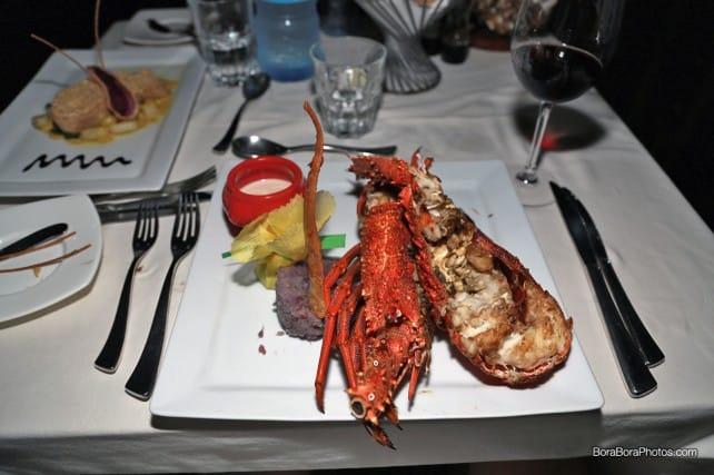 Flambeed Lobster with Vanilla Rum Sauce | boraboraphotos.com