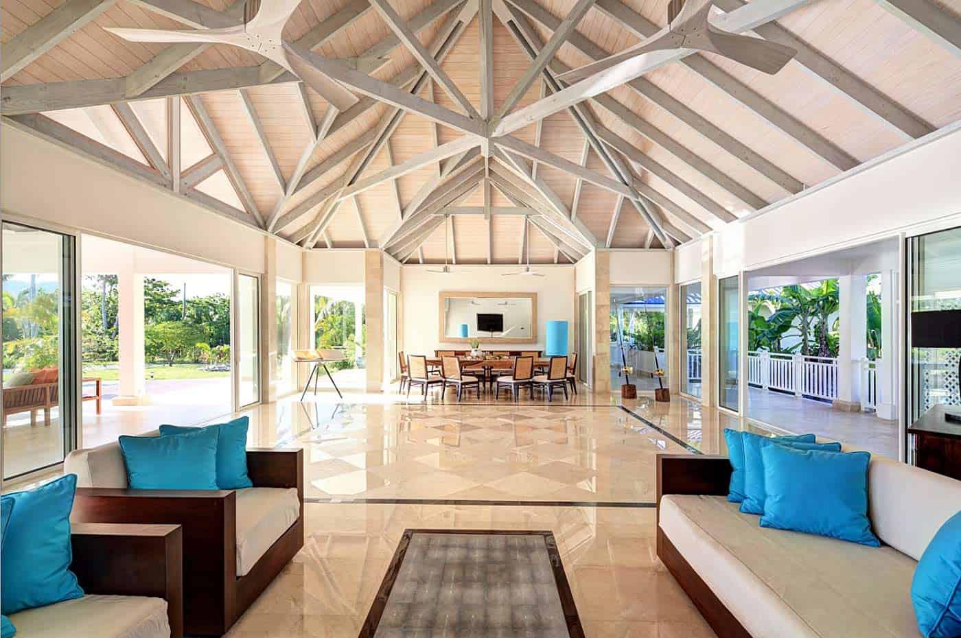 Inside main building of Bora Bora One resort vacation rental | boraboraphotos.com